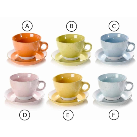 tazzine in ceramica colorata