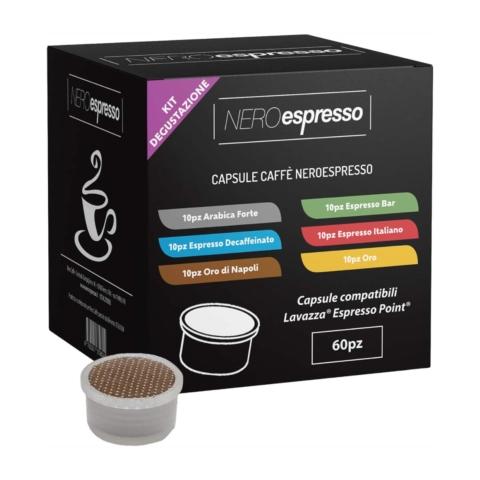 kit degustazione capsule caffè lavazza espresso point