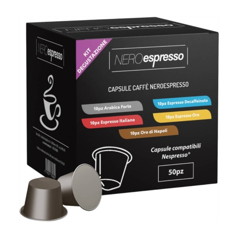 kit degustazione capsule caffè nespresso